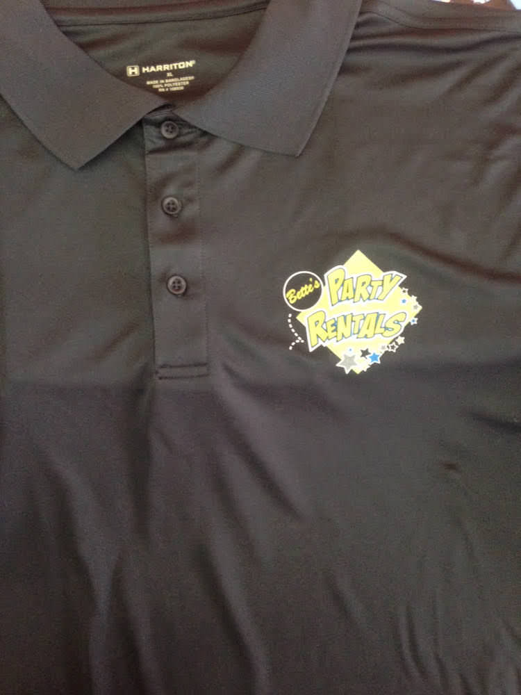 Bette's Party Rentals Custom Polo Shirts