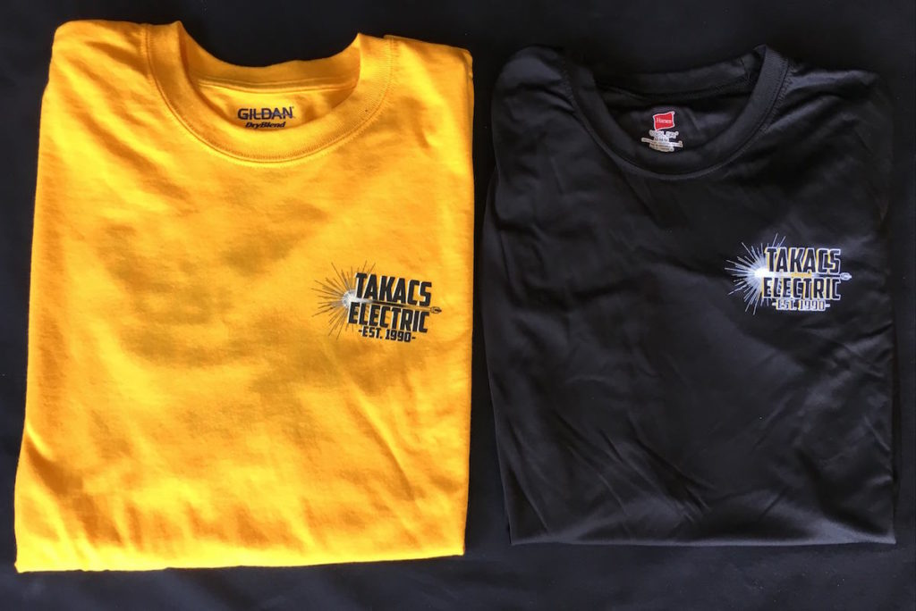 Custom Electrician Shirts - Takacs Electric