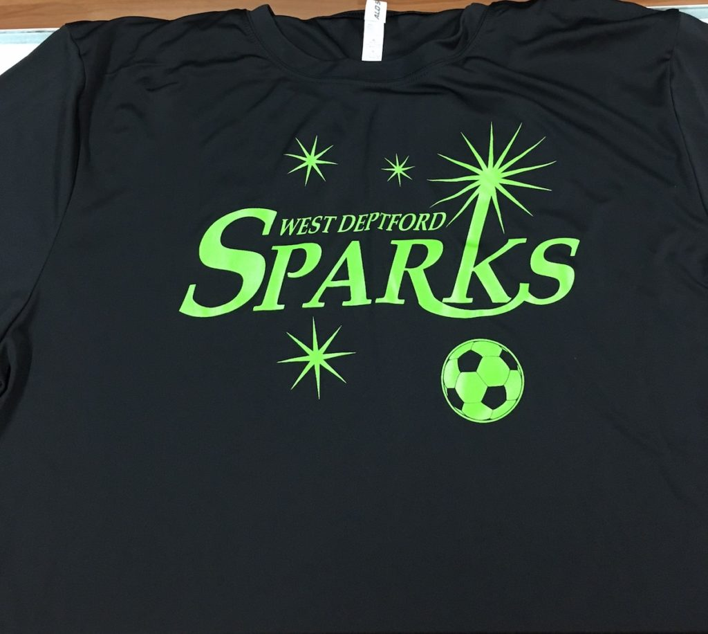 Custom Soccer Shirts For West Deptford Sparks